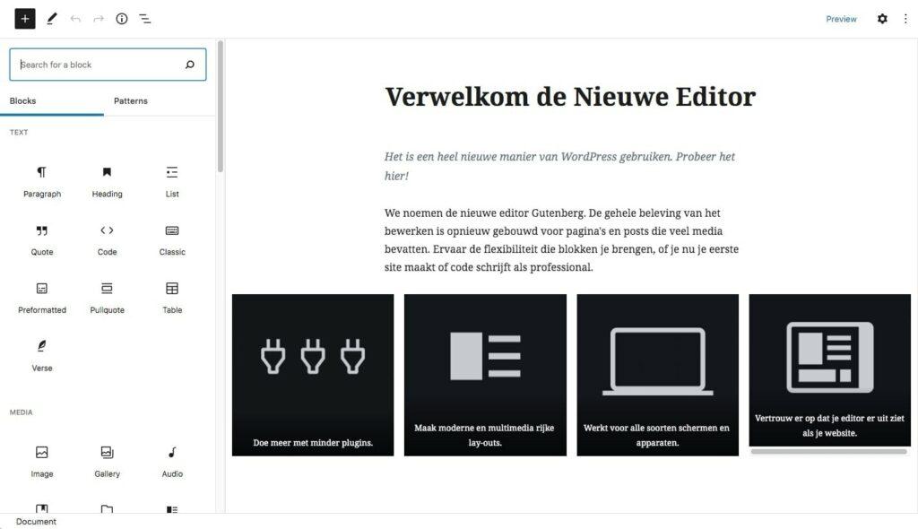 Wordpress gutenberg editor 41
