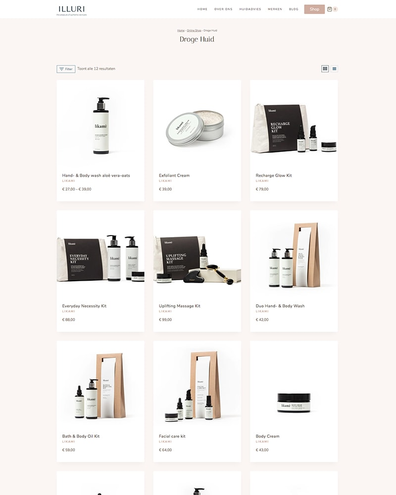 Illuri shop filter 14