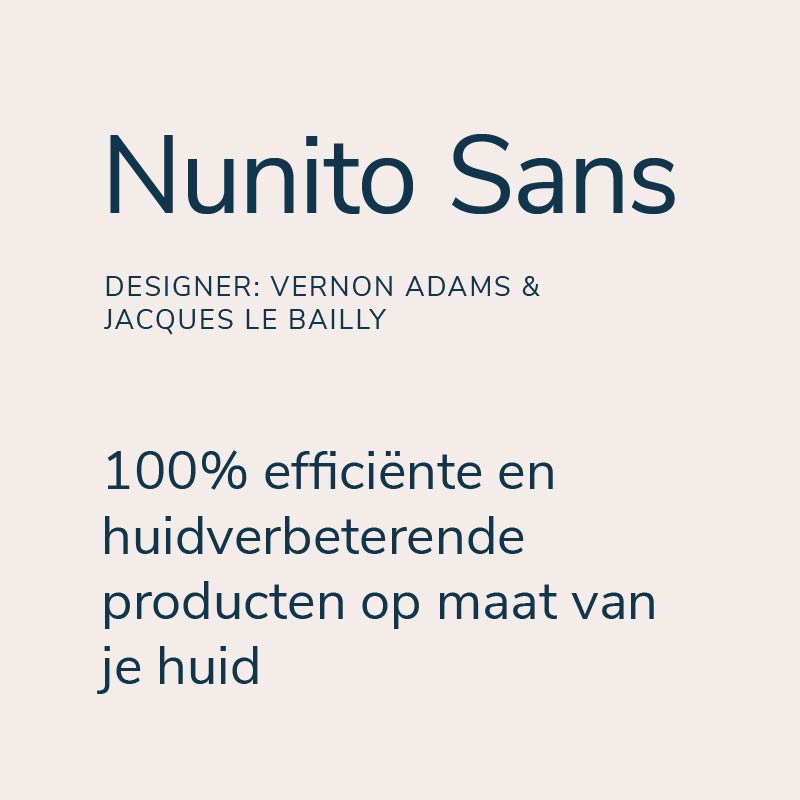 Typografie illuri nunito sans