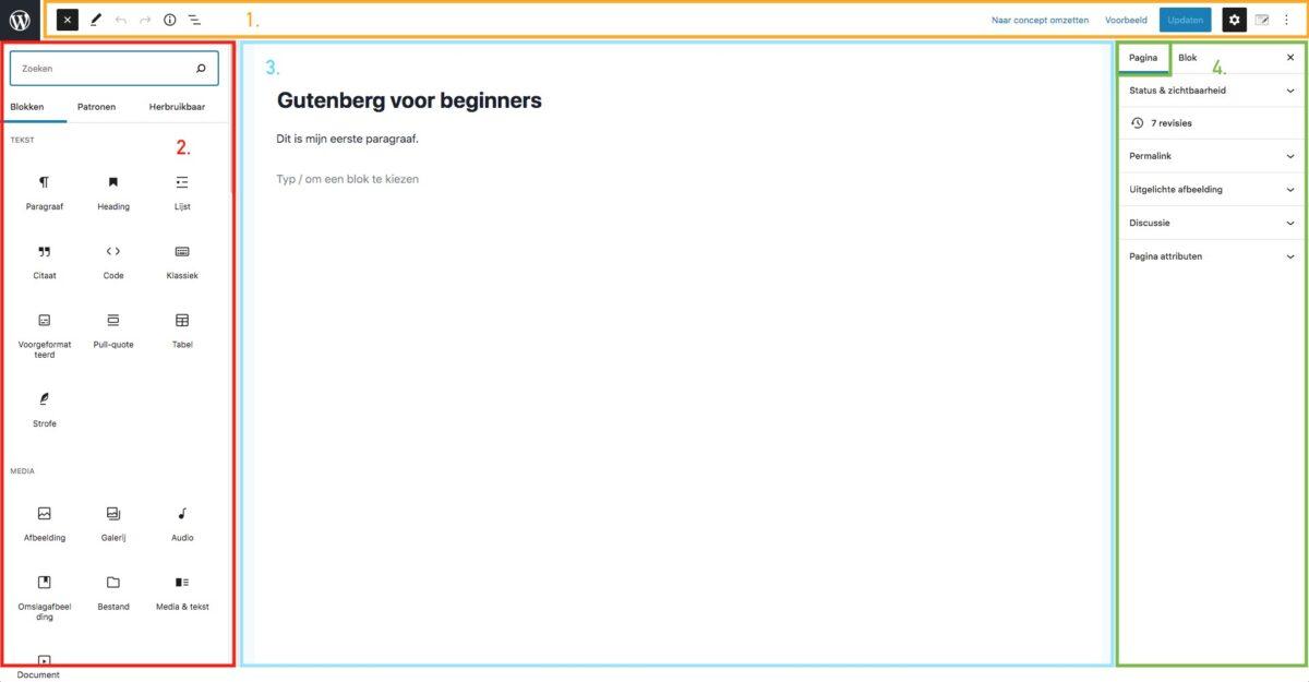 Basis gutenberg interface