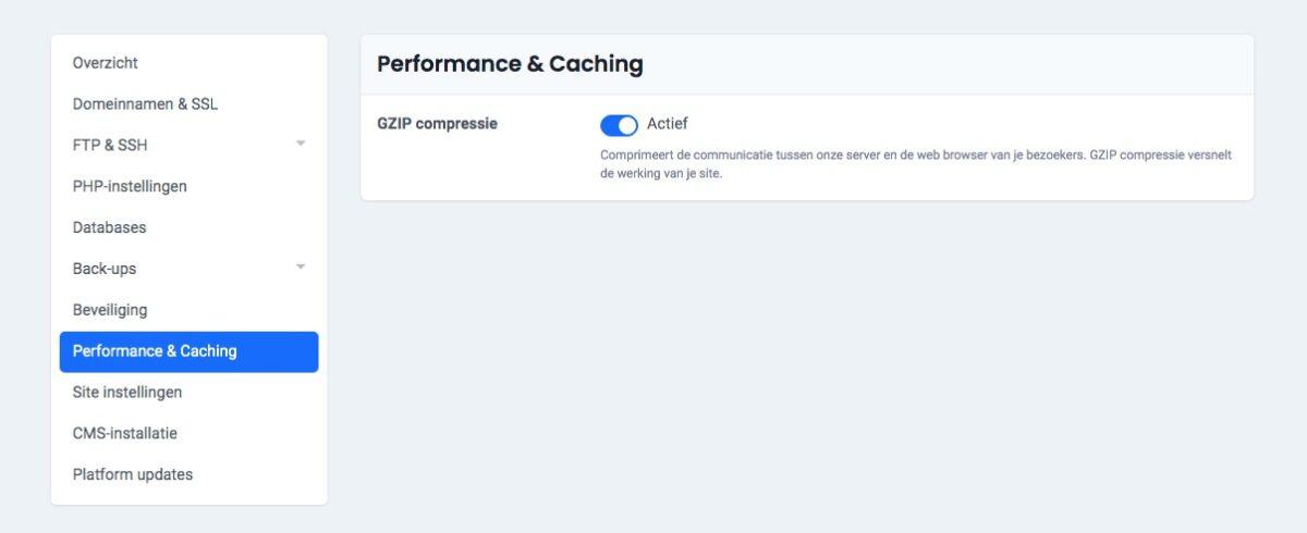 Controleer performance instellingen 5