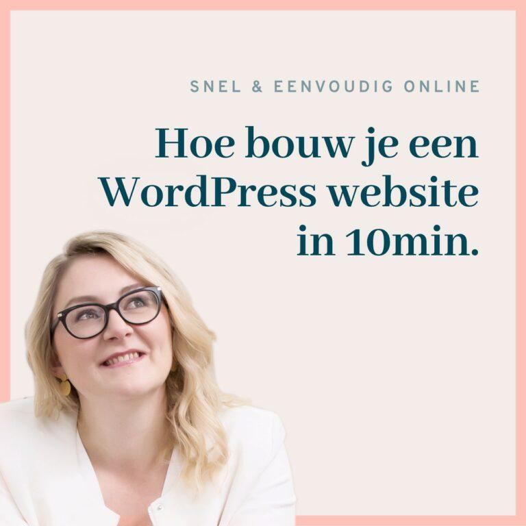 Bouw een wordpress website in 10min   wordpress beginner tutorial 2021